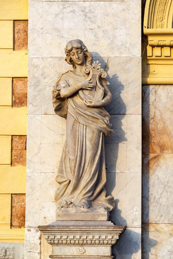 Statua a Cartagine, Colombia immagine stock
