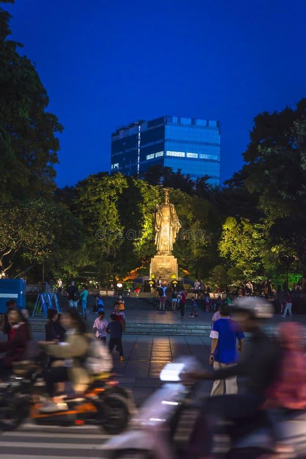 Statua cesarz Ly Thaito, Hanoi, Wietnam zdjęcia royalty free