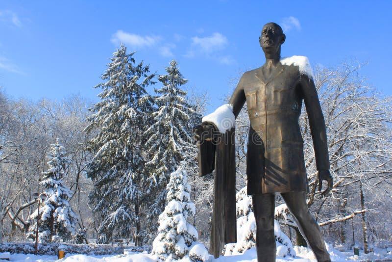 Statua Charles De Gaulle w Bucharest fotografia royalty free