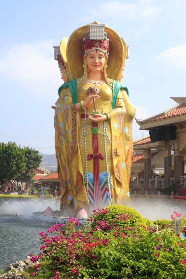 Statua chiński denny bogini mazu, adobe rgb zdjęcia stock