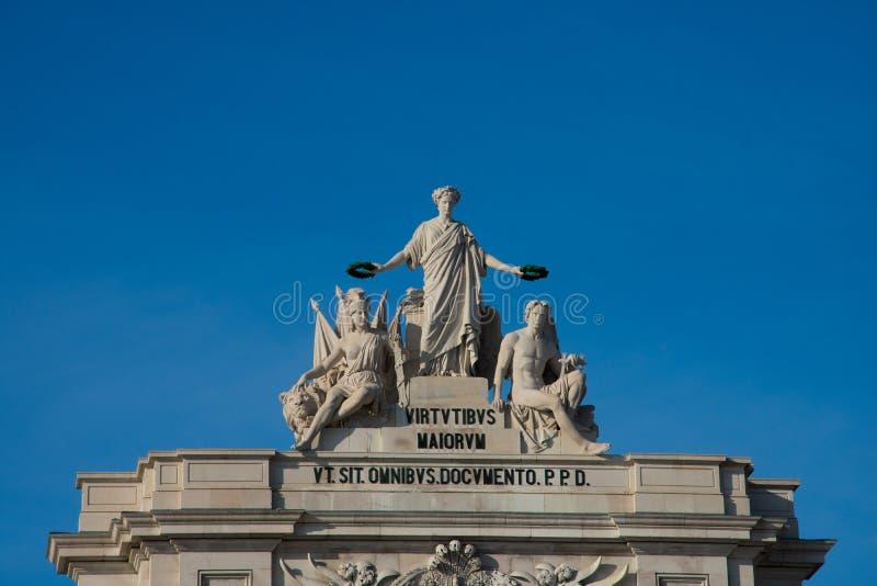 Statua chwały dający satysfakcję męstwo geniusz i fotografia royalty free
