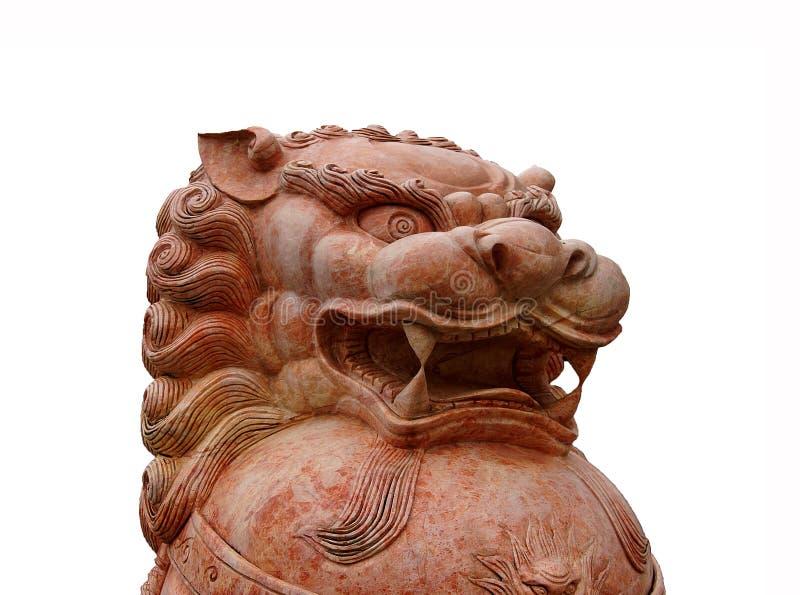 Statua cinese classica del leone fotografia stock