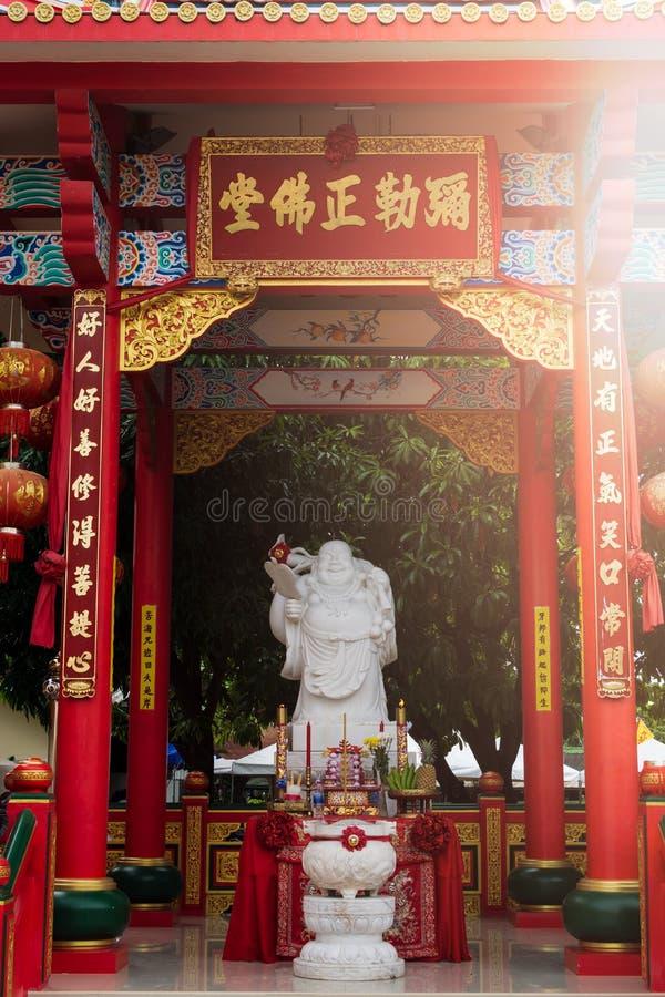 Statua cinese del dio in Jiu Tean Geng Shrine, Phuket, Tailandia fotografie stock