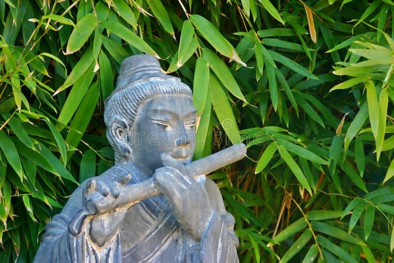 Statua cinese musicale fotografia stock libera da diritti