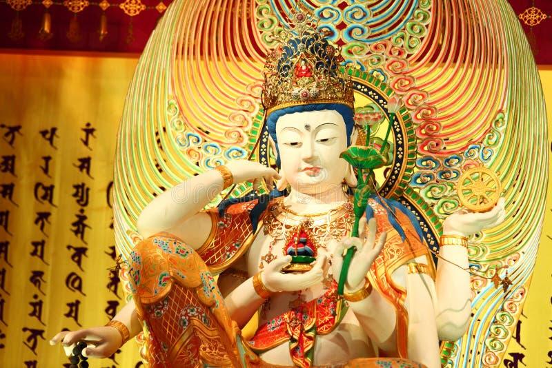 Statua cinese, scultura di Guan Yin fotografia stock