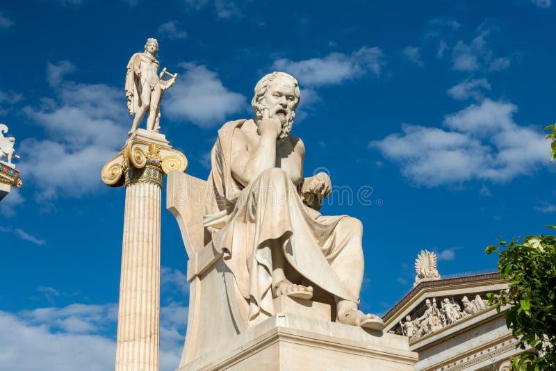 Statua classica del filosofo Socrates fotografia stock
