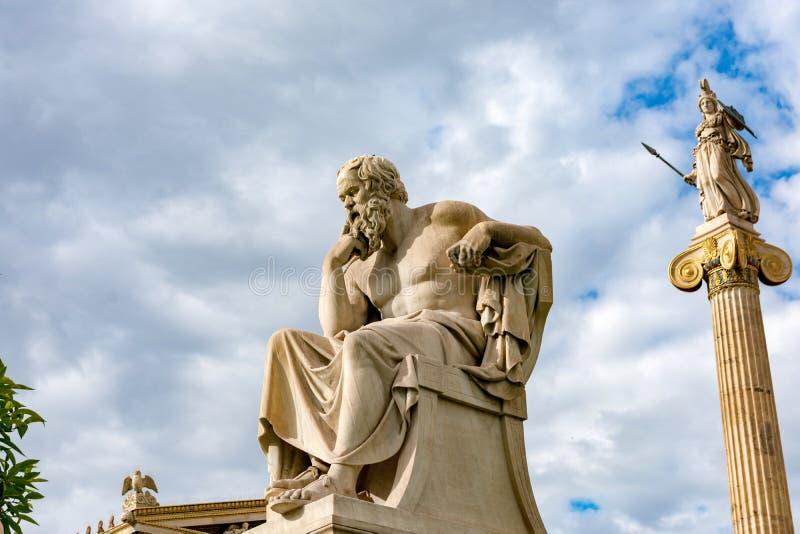 Statua classica del filosofo Socrates fotografie stock
