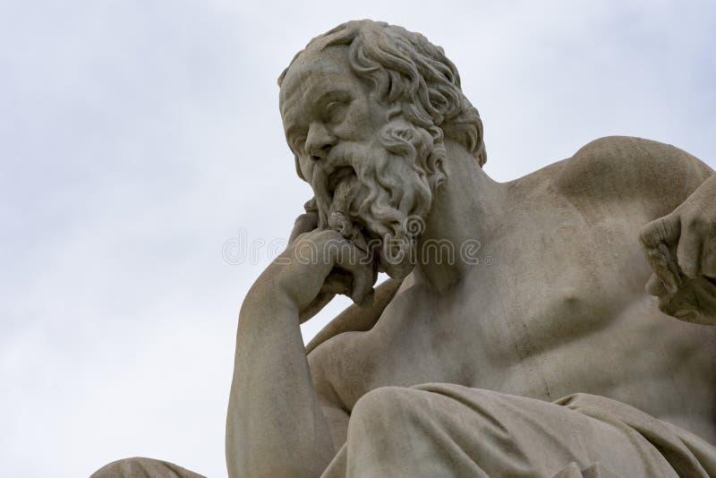 Statua classica del philoshopher di Socrates immagini stock