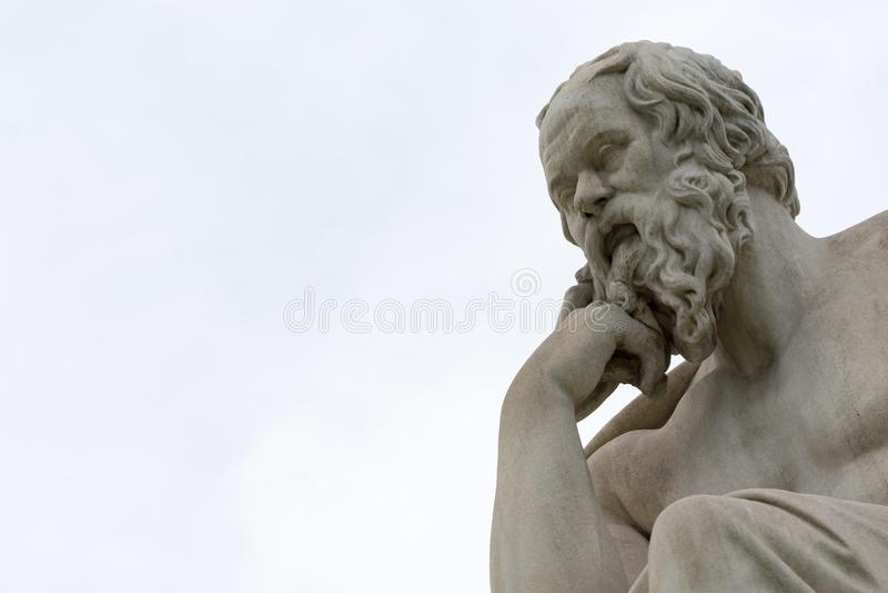 Statua classica del philoshopher di Socrates fotografia stock