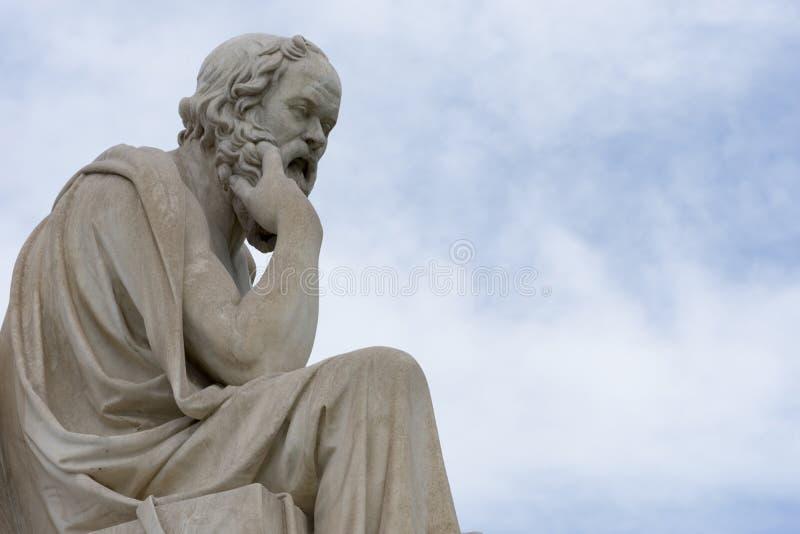 Statua classica del philoshopher di Socrates immagine stock libera da diritti