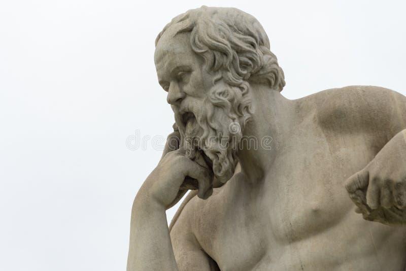 Statua classica del philoshopher di Socrates immagini stock libere da diritti