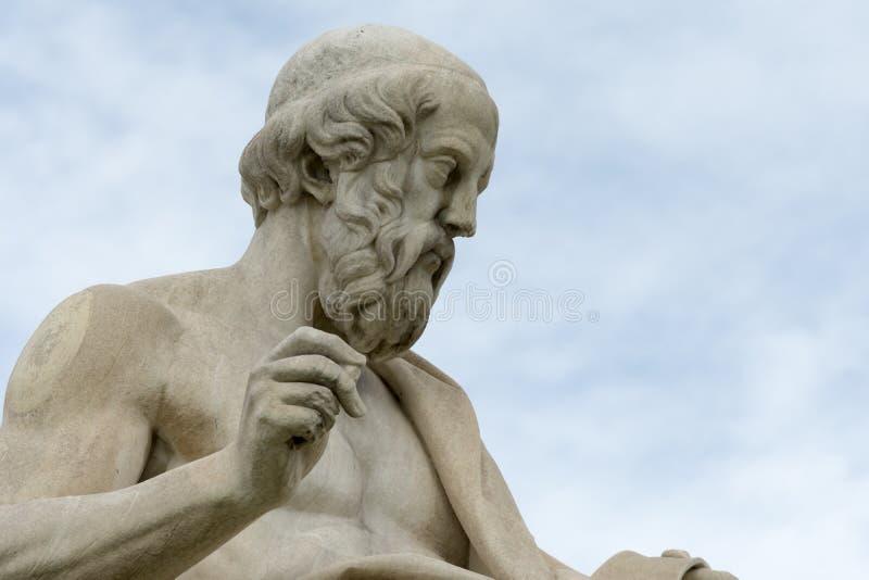 Statua classica del philoshopher di Socrates fotografie stock libere da diritti