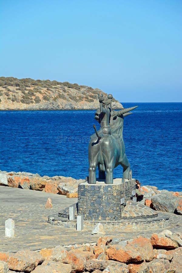 Statua dal mare, Agios Nikolaos di Europa fotografie stock