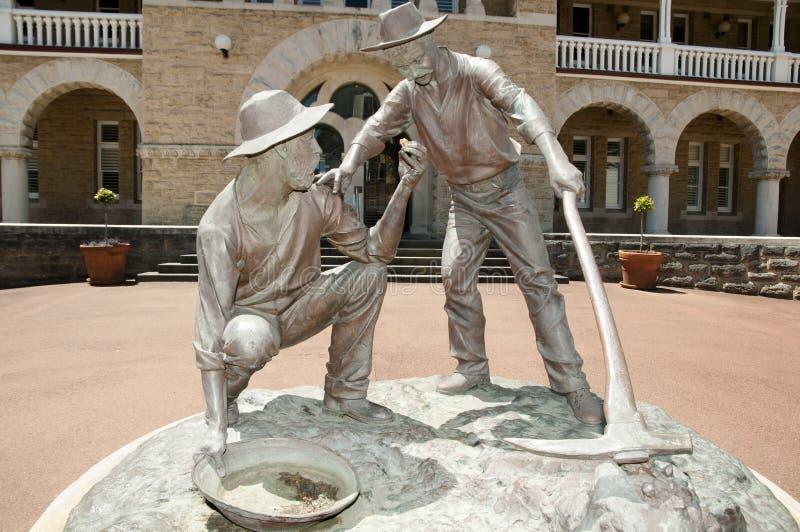 Statua dei minatori di oro - Perth - Australia immagini stock libere da diritti