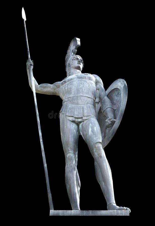 Statua del Achilles isolata fotografie stock libere da diritti