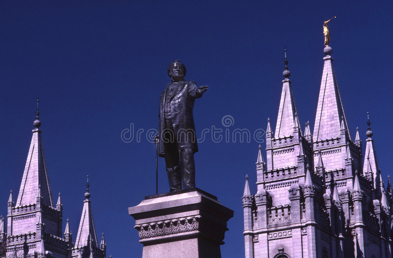 Statua del Brigham Young fotografie stock