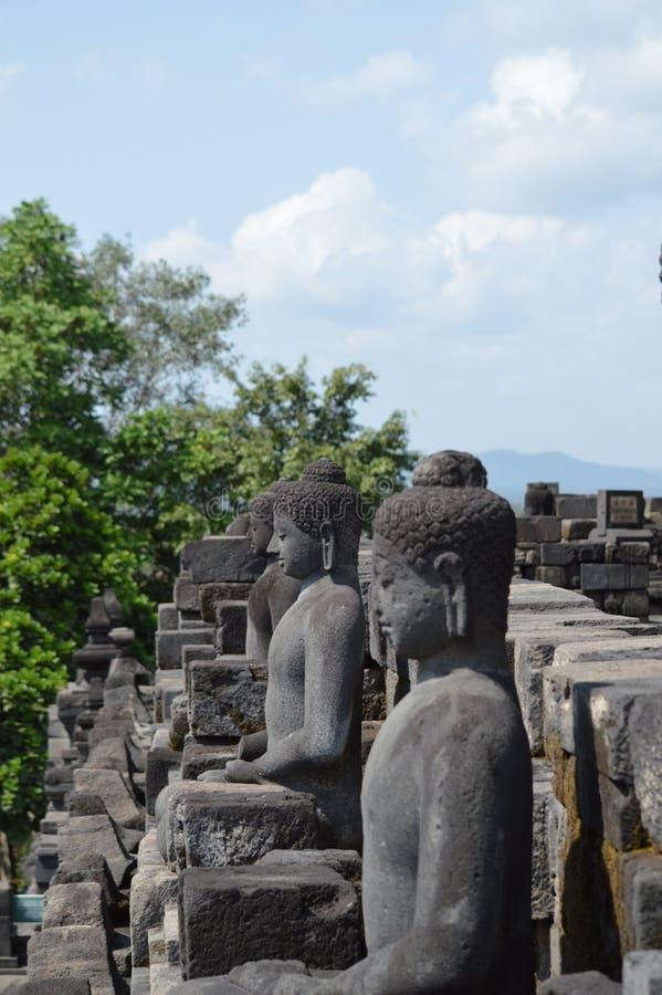 Statua del Buddha a Borobudur immagini stock libere da diritti