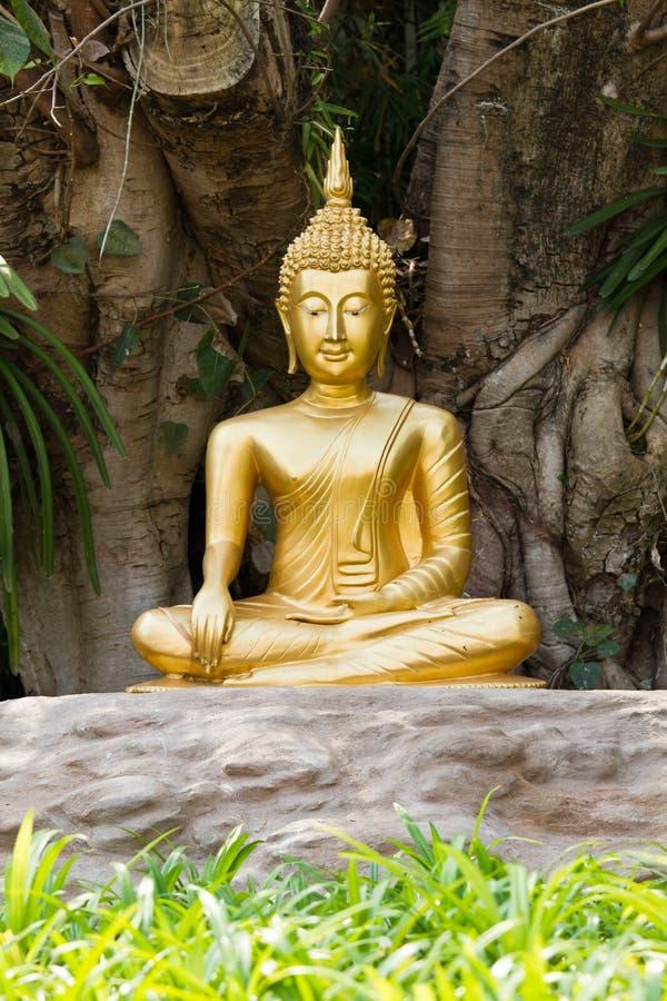 Statua del Buddha di meditazione. immagine stock