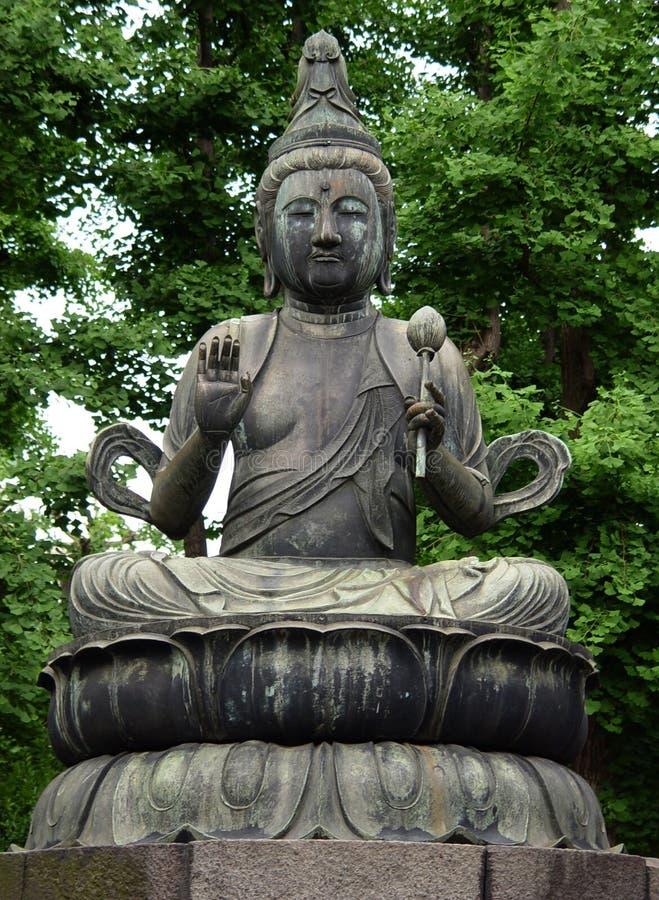 Statua del Buddha a Tokyo fotografie stock libere da diritti