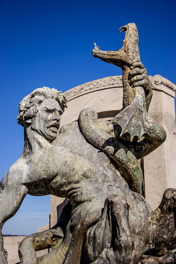 Statua del capitale dello Stato del Missouri fotografia stock libera da diritti