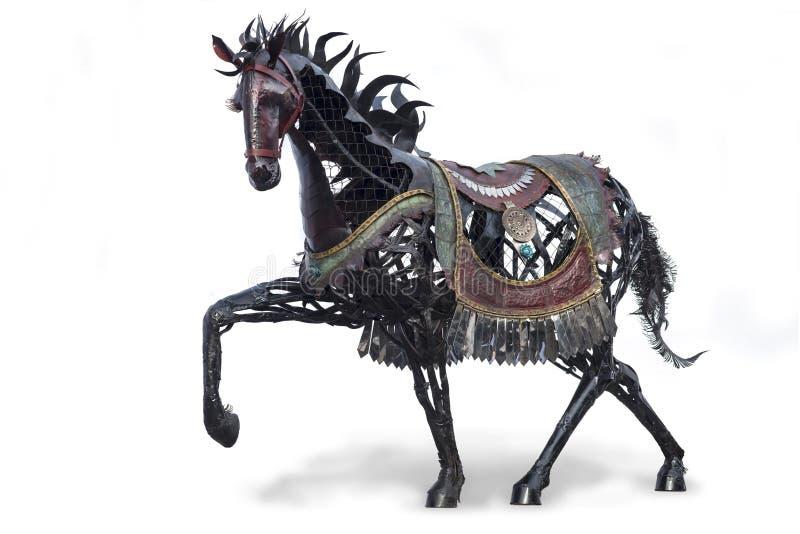 Statua del cavallo di ferro fotografie stock libere da diritti