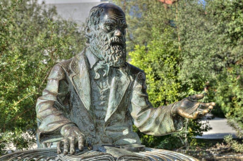 Statua del Charles Darwin fotografia stock
