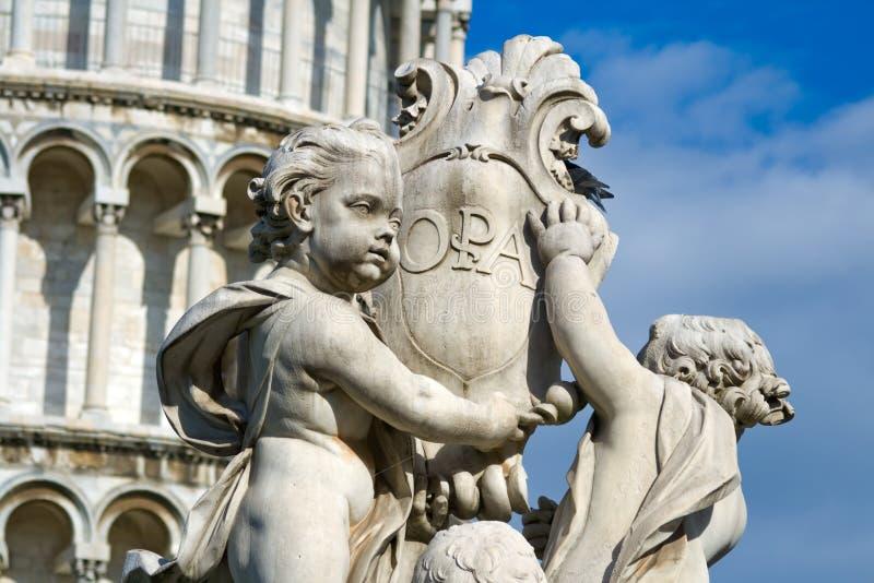 Statua del Cherub. Pisa, Italia immagine stock libera da diritti