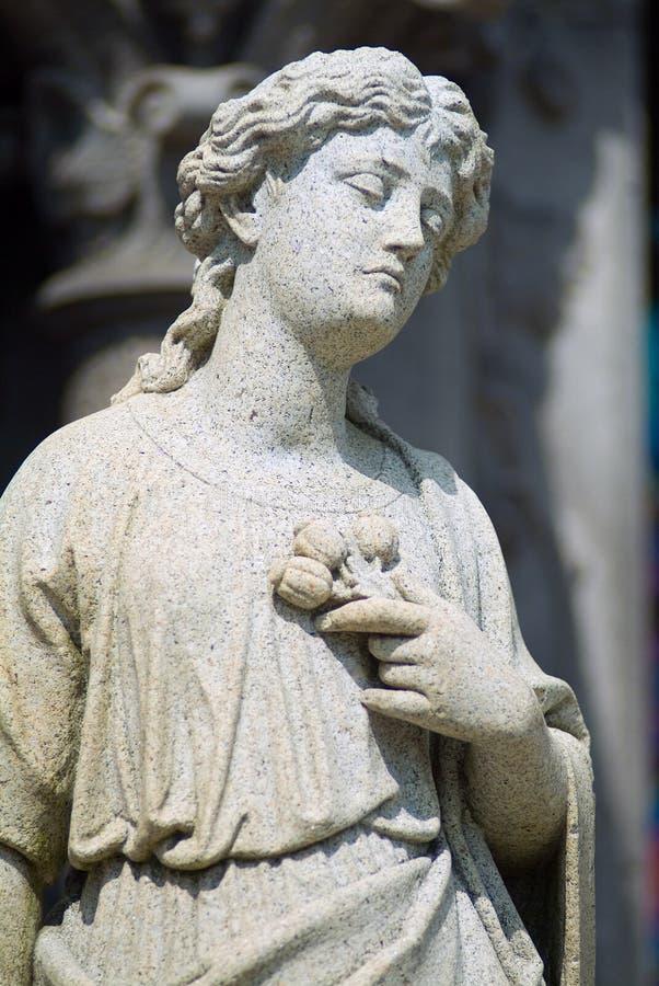 Statua del cimitero immagini stock