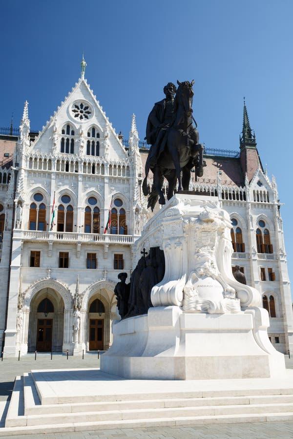 Statua del conteggio Gyula Andrassy - Primo Ministro ungherese, vicino fotografia stock