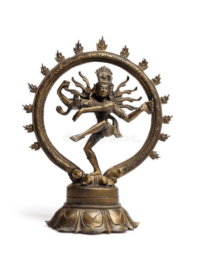 Statua del dancing indù indiano Shiva Nataraja del dio fotografie stock libere da diritti