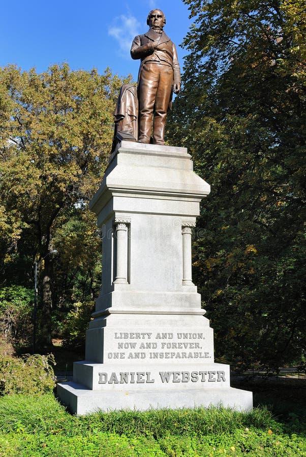 Statua del Daniel Webster in Central Park immagine stock