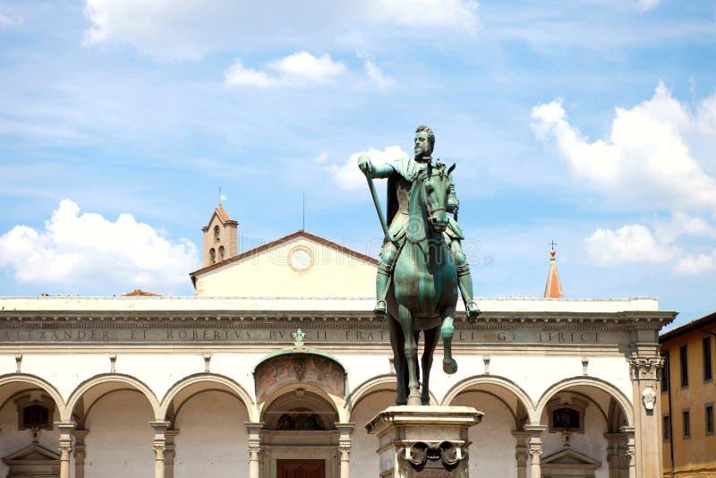 Statua del de Medici di Ferdinando I a Firenze fotografia stock