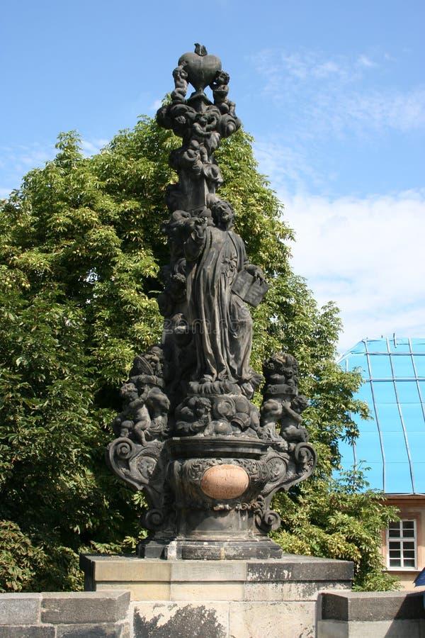 Statua del _di Charles Bridge fotografie stock