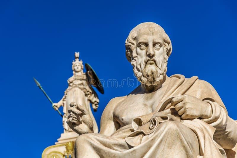 Statua del filosofo greco Plato immagini stock