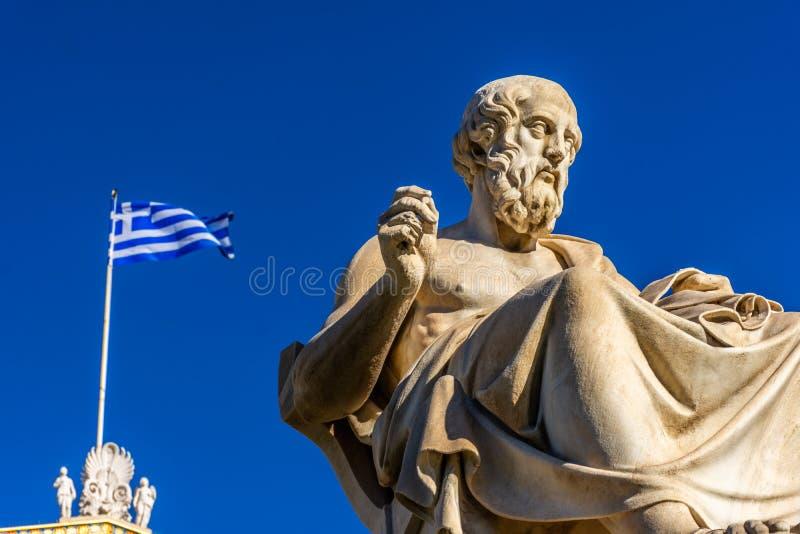 Statua del filosofo greco Plato fotografie stock