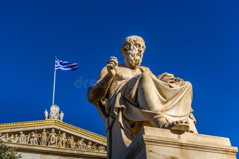 Statua del filosofo greco Plato immagine stock libera da diritti