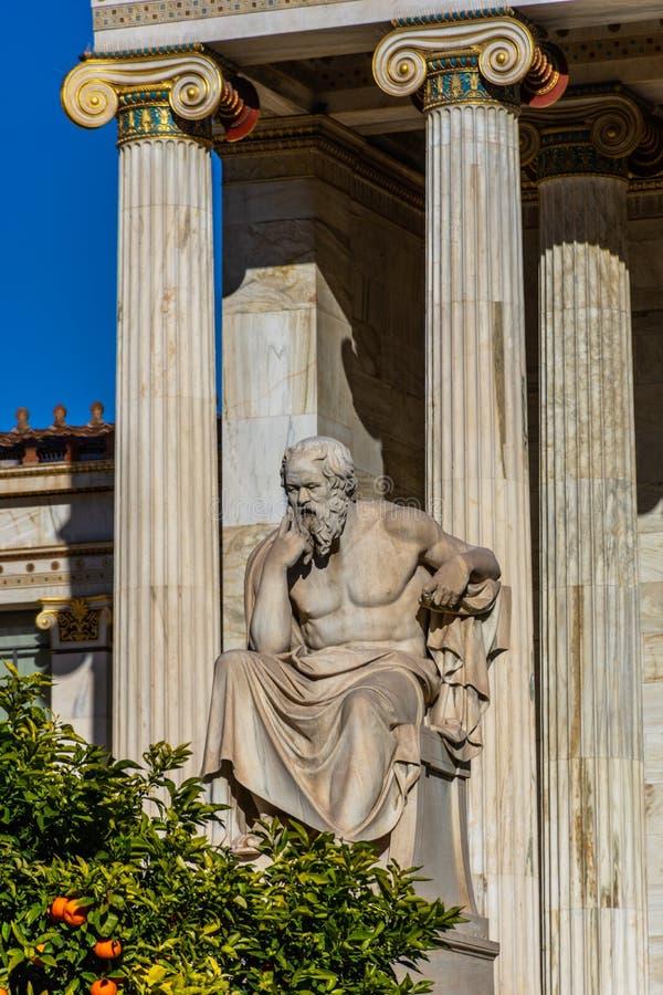 Statua del filosofo greco Socrates fotografia stock