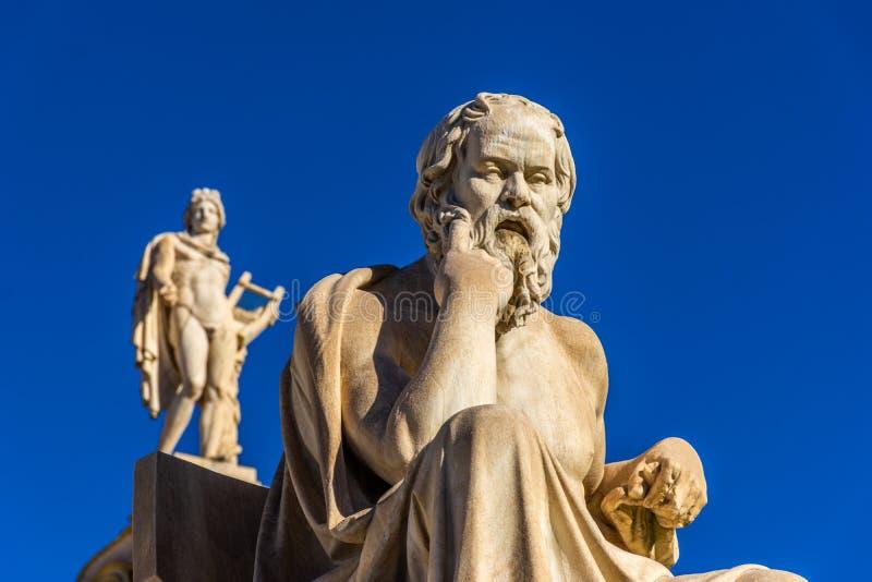 Statua del filosofo greco Socrates immagini stock libere da diritti