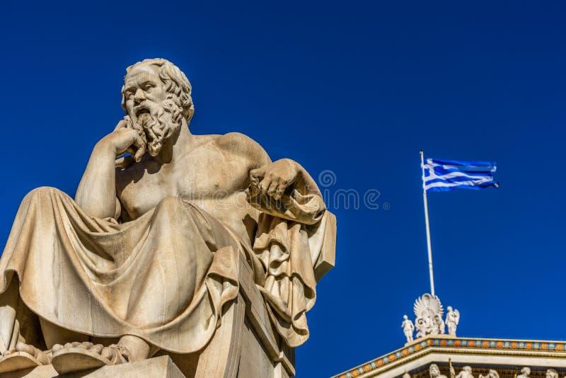 Statua del filosofo greco Socrates immagine stock libera da diritti