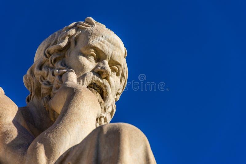 Statua del filosofo greco Socrates fotografie stock