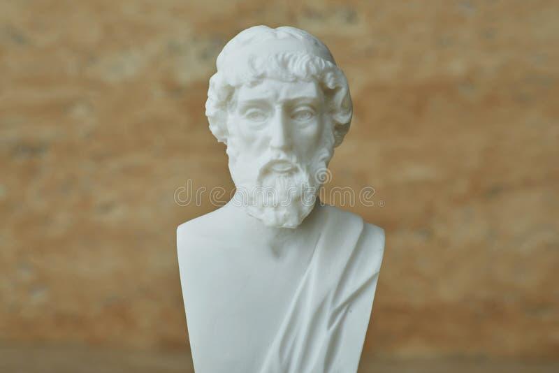 Statua del filosofo Plato del greco antico immagine stock