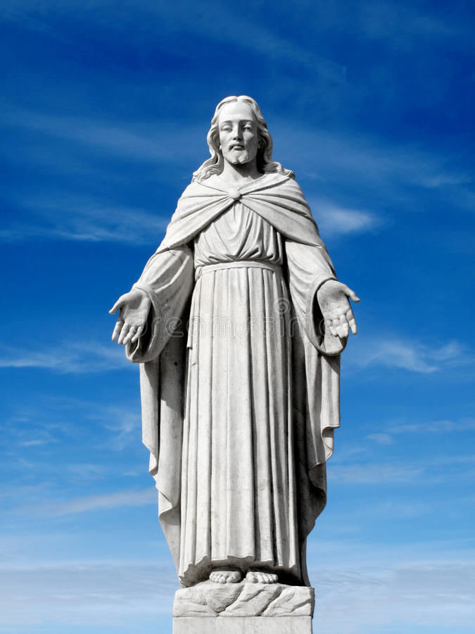 Statua del Gesù Cristo immagini stock libere da diritti