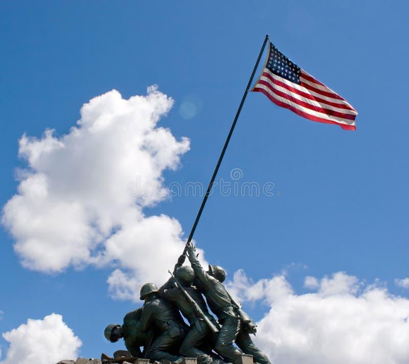 Statua del memoriale di Iwo Jima fotografia stock libera da diritti
