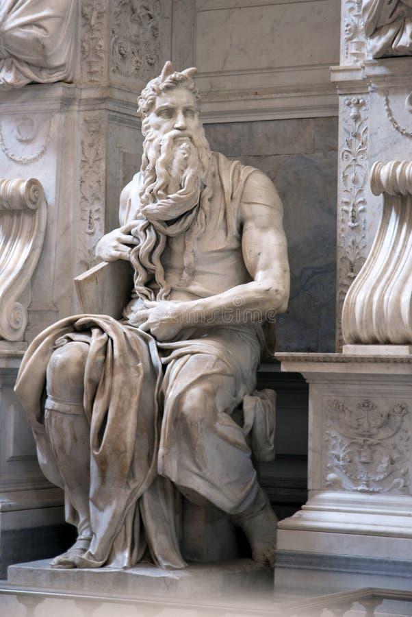 Statua del Moses fotografia stock