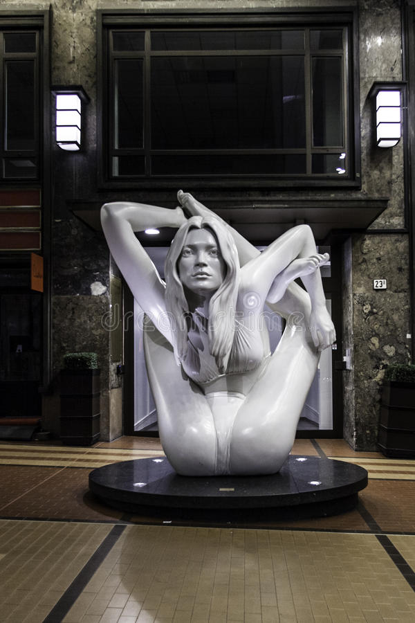 Statua del muschio di Kate a Oslo da vinaccia quinn fotografia stock
