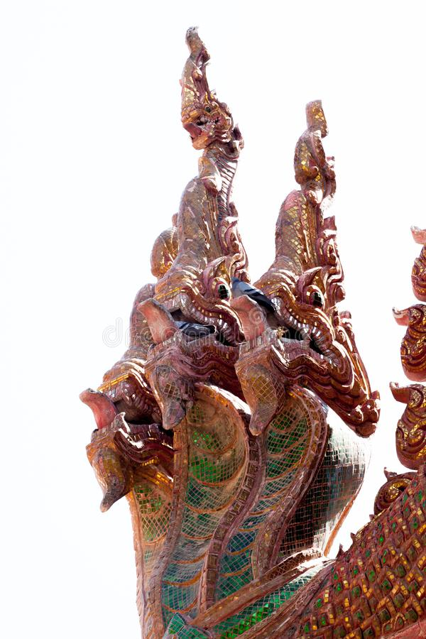 Statua del Naga, testa di bianco 3 fotografia stock libera da diritti