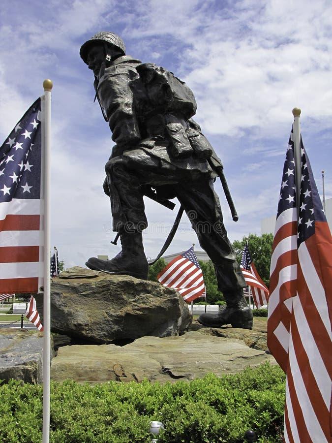 Statua del paracadutista immagine stock libera da diritti