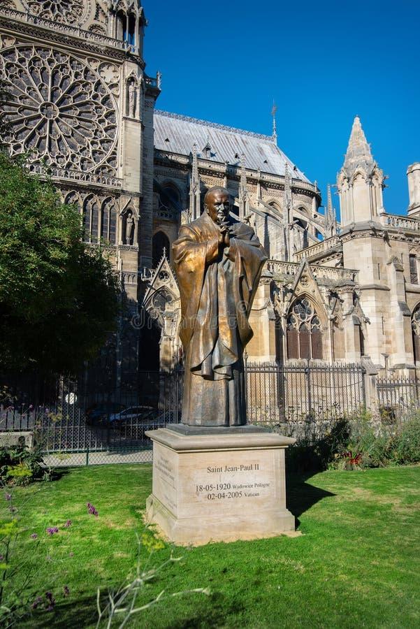 Statua del Pope John Paul Ii immagine stock libera da diritti