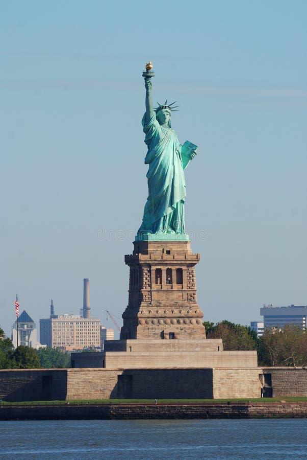Statua del primo piano di libertà, New York City immagine stock