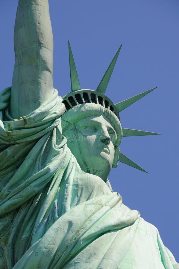 Statua del profilo di libertà fotografia stock